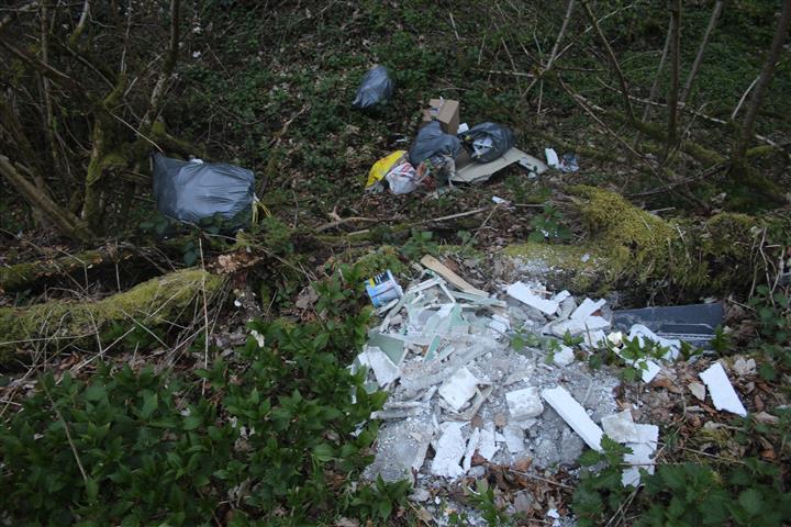 Abgelagerter Müll